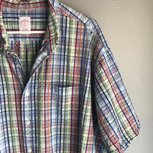 Brooks Brothers XXL Button Down Shirt Blue Multi